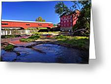 Bridgeton Covered Bridge 4 Greeting Card by Marty Koch