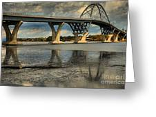 Bridging Vermont And New York Greeting Card