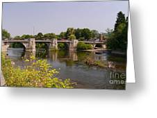 Bridgnorth Bridge Greeting Card