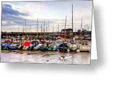 Bridlington Harbour Greeting Card
