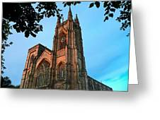 Bridlington Priory At Sunset Greeting Card