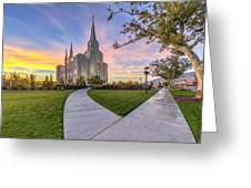 Brigham City Sunset Greeting Card