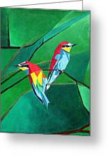 Brighly Colored European Bee-eaters Greeting Card