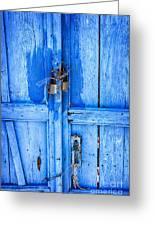 Bright Blue Door Greeting Card