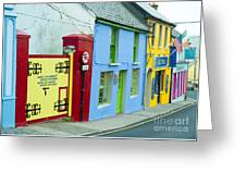Bright Buildings In Ireland Greeting Card
