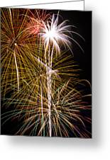 Bright Bursts Of Fireworks Greeting Card
