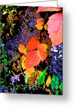 Bright Colorful Leaves Vertical Greeting Card