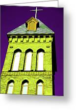 Bright Cross Tower Greeting Card