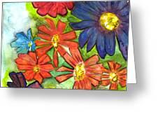 Bright Flower Bunch Greeting Card