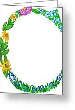 Bright Fun Colorful Hand Drawn Monogram C Greeting Card