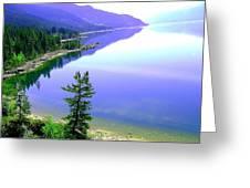 Bright Kootenay Lake Greeting Card