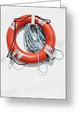 Bright Life Saving Ring Greeting Card