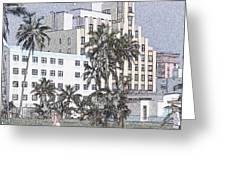 Bright Light Miami Beach Greeting Card