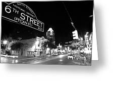 Bright Lights At Night Greeting Card by John Gusky
