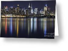 Bright Lights Big City Greeting Card by Marco Crupi