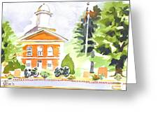 Bright Morning At The Courthouse Greeting Card