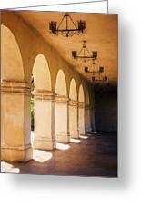 Bright Sun Cool Shade Balboa Park Greeting Card