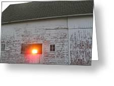 Bright Sunrise Through Barn Greeting Card