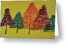 Bright Trees Greeting Card
