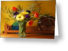 Bright Winter Bouquet Greeting Card
