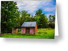 Bright Wood Shed Greeting Card by Jason Brow