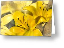 Bright Yellow Greeting Card