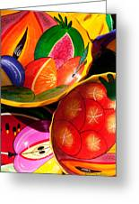Brightly Painted Bowls At A Market - Mexico - Travel Photography By David Perry Lawrence Greeting Card