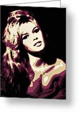 Brigitte Bardot Poster Art Greeting Card