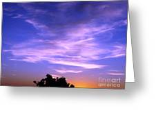 Brilliant Blue Sunrise Greeting Card