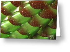 Brilliant Green Abstract 6 Greeting Card