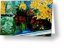 Brilliant Mountain Colors In Reflection Greeting Card