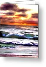 Brilliant Nags Head Sunrise Greeting Card