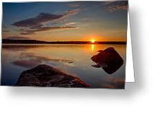 Brilliant Sunrise. Baxter Lake Nh Greeting Card