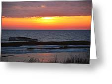 Brilliant Sunset Greeting Card