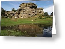 Brimham Rocks Reflection Greeting Card