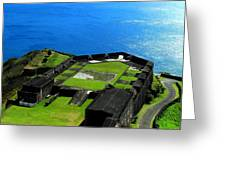 Brimstone Fortress St Kitts Greeting Card
