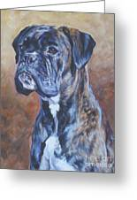 Brindle Boxer Greeting Card