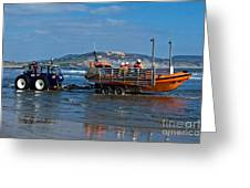 Bringing In The Lifeboat Greeting Card