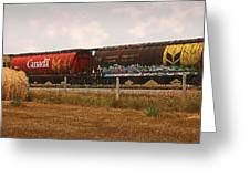 Bringing In The Wheat Canadian Railroad Greeting Card