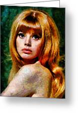 Brit Ekland - Abstract Expressionism Greeting Card