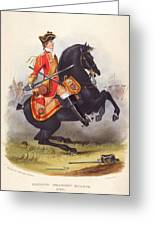 Britain  A Member Of The Second Dragoon Greeting Card