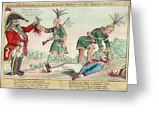 British And American Indian Raids Greeting Card