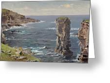 British Coastal View. Coast Of Cornwall Greeting Card
