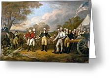 British General John Burgoyne Surrenders At Saratoga Greeting Card
