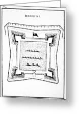 British Redoubt, 1777 Greeting Card