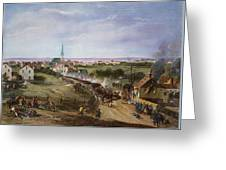 British Retreat, 1775 Greeting Card by Granger
