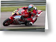 British Superbike Rider Barry Burrell   Greeting Card