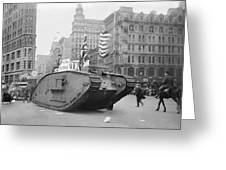 British Tank In New York Greeting Card