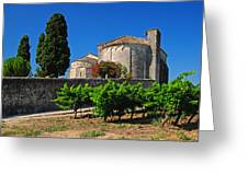 Brittany Vineyard And Monastery  Greeting Card