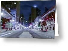 Broad Street At Night Greeting Card